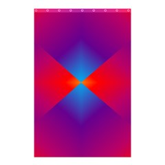 Geometric Blue Violet Red Gradient Shower Curtain 48  X 72  (small)  by BangZart