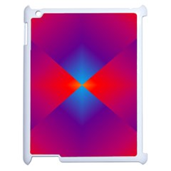 Geometric Blue Violet Red Gradient Apple Ipad 2 Case (white) by BangZart