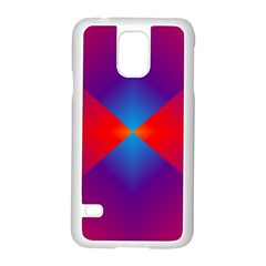Geometric Blue Violet Red Gradient Samsung Galaxy S5 Case (white) by BangZart