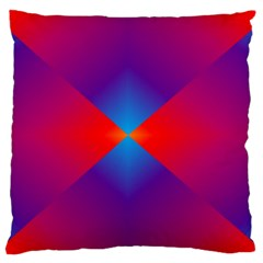 Geometric Blue Violet Red Gradient Standard Flano Cushion Case (one Side)
