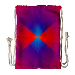 Geometric Blue Violet Red Gradient Drawstring Bag (large)