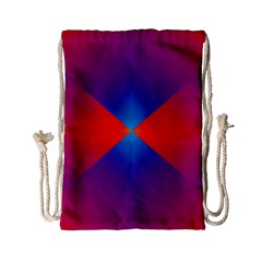 Geometric Blue Violet Red Gradient Drawstring Bag (small) by BangZart