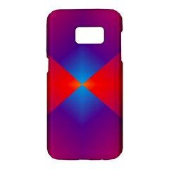 Geometric Blue Violet Red Gradient Samsung Galaxy S7 Hardshell Case