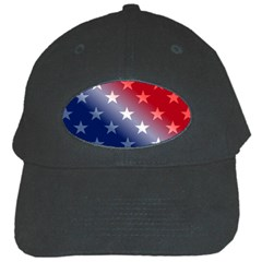 America Patriotic Red White Blue Black Cap by BangZart