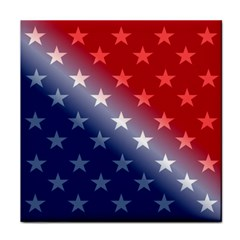 America Patriotic Red White Blue Tile Coasters by BangZart
