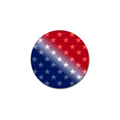 America Patriotic Red White Blue Golf Ball Marker (4 Pack)