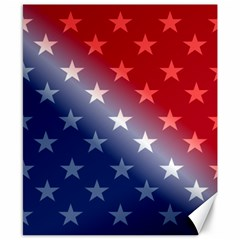 America Patriotic Red White Blue Canvas 8  X 10  by BangZart