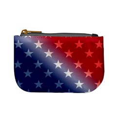 America Patriotic Red White Blue Mini Coin Purses by BangZart
