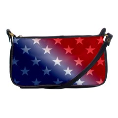 America Patriotic Red White Blue Shoulder Clutch Bags