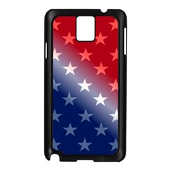 America Patriotic Red White Blue Samsung Galaxy Note 3 N9005 Case (black)