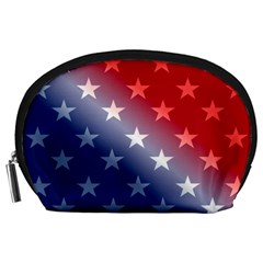 America Patriotic Red White Blue Accessory Pouches (large)  by BangZart