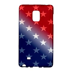 America Patriotic Red White Blue Galaxy Note Edge by BangZart