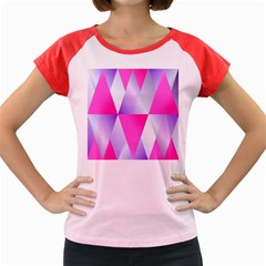 Gradient Geometric Shiny Light Women s Cap Sleeve T Shirt by BangZart