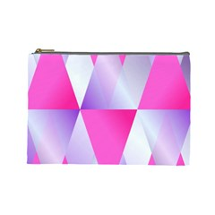 Gradient Geometric Shiny Light Cosmetic Bag (large)
