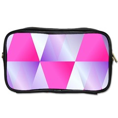 Gradient Geometric Shiny Light Toiletries Bags