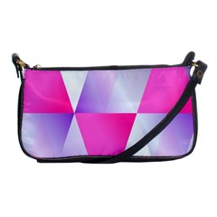 Gradient Geometric Shiny Light Shoulder Clutch Bags