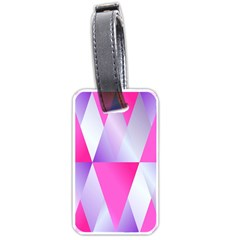 Gradient Geometric Shiny Light Luggage Tags (one Side)