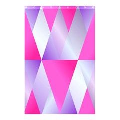 Gradient Geometric Shiny Light Shower Curtain 48  X 72  (small)  by BangZart