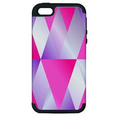 Gradient Geometric Shiny Light Apple Iphone 5 Hardshell Case (pc+silicone) by BangZart