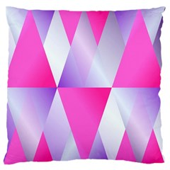 Gradient Geometric Shiny Light Large Flano Cushion Case (one Side)