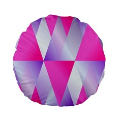 Gradient Geometric Shiny Light Standard 15  Premium Flano Round Cushions