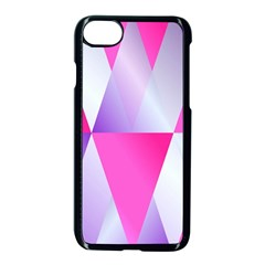 Gradient Geometric Shiny Light Apple Iphone 7 Seamless Case (black) by BangZart