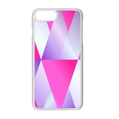 Gradient Geometric Shiny Light Apple Iphone 8 Plus Seamless Case (white) by BangZart