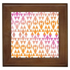 Geometric Abstract Orange Purple Framed Tiles