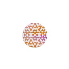 Geometric Abstract Orange Purple 1  Mini Buttons by BangZart