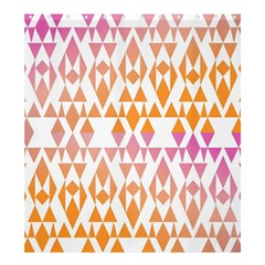 Geometric Abstract Orange Purple Shower Curtain 66  X 72  (large)  by BangZart