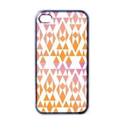 Geometric Abstract Orange Purple Apple Iphone 4 Case (black)