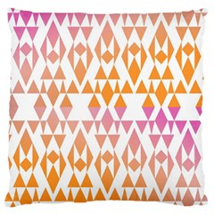 Geometric Abstract Orange Purple Large Cushion Case (two Sides)