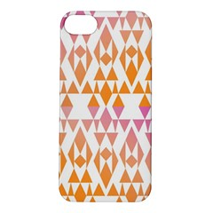 Geometric Abstract Orange Purple Apple Iphone 5s/ Se Hardshell Case by BangZart