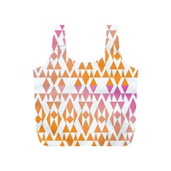 Geometric Abstract Orange Purple Full Print Recycle Bags (s)