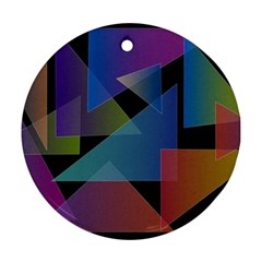 Triangle Gradient Abstract Geometry Ornament (round)