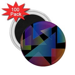 Triangle Gradient Abstract Geometry 2 25  Magnets (100 Pack)