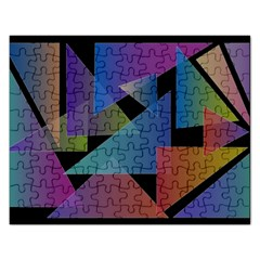 Triangle Gradient Abstract Geometry Rectangular Jigsaw Puzzl