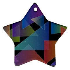 Triangle Gradient Abstract Geometry Star Ornament (two Sides)