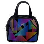 Triangle Gradient Abstract Geometry Classic Handbags (2 Sides) Back