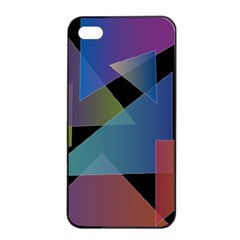 Triangle Gradient Abstract Geometry Apple Iphone 4/4s Seamless Case (black)