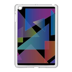 Triangle Gradient Abstract Geometry Apple Ipad Mini Case (white)
