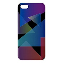 Triangle Gradient Abstract Geometry Apple Iphone 5 Premium Hardshell Case