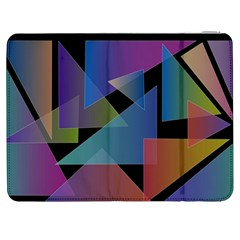 Triangle Gradient Abstract Geometry Samsung Galaxy Tab 7  P1000 Flip Case by BangZart