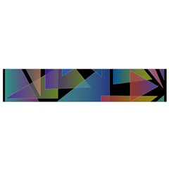 Triangle Gradient Abstract Geometry Small Flano Scarf