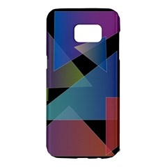 Triangle Gradient Abstract Geometry Samsung Galaxy S7 Edge Hardshell Case by BangZart