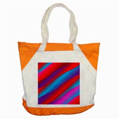 Diagonal Gradient Vivid Color 3d Accent Tote Bag by BangZart