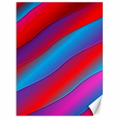 Diagonal Gradient Vivid Color 3d Canvas 36  X 48   by BangZart