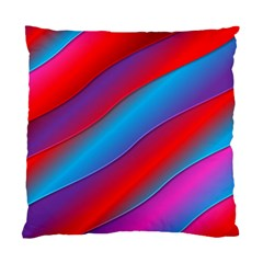 Diagonal Gradient Vivid Color 3d Standard Cushion Case (one Side) by BangZart
