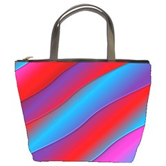 Diagonal Gradient Vivid Color 3d Bucket Bags by BangZart