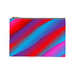Diagonal Gradient Vivid Color 3d Cosmetic Bag (large)  by BangZart